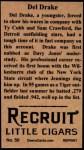 1912 T207 Reprints #50   Del Drake Back Thumbnail