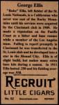 1912 #52  George Ellis  Back Thumbnail