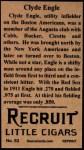 1912 T207 Reprints #53    Clyde Engle  Back Thumbnail