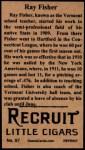 1912 T207 Reprints #57   Ray Fisher Back Thumbnail