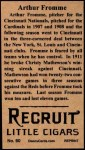 1912 T207 Reprints #60   Arthur Fromme Back Thumbnail