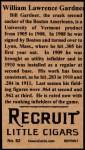 1912 T207 Reprints #62   Larry Gardner Back Thumbnail