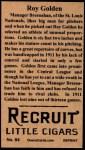 1912 T207 Reprints #64   Roy Golden Back Thumbnail