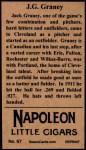 1912 T207 Reprints #67   J.C Graney Back Thumbnail
