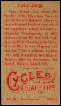 1912 T207 Reprints #68  Vean Gregg  Back Thumbnail