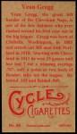 1912 T207 Reprints #68   Vean Gregg Back Thumbnail