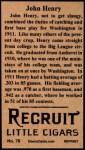 1912 T207 Reprints #76   John Henry Back Thumbnail