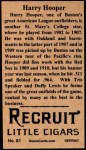 1912 T207 Reprints #81  Harry Hooper  Back Thumbnail
