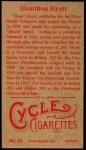 1912 #83  Hamilton Hyatt  Back Thumbnail