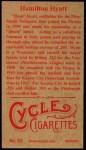 1912 T207 Reprints #83   Hamilton Hyatt Back Thumbnail