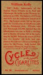 1912 T207 Reprints #86  William Kelly  Back Thumbnail