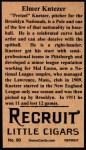 1912 T207 Reprints #90   Elmer Knetzer Back Thumbnail