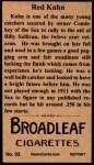 1912 T207 Reprints #93   Red Kuhn Back Thumbnail
