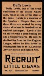 1912 T207 Reprints #101  Duffy Lewis  Back Thumbnail