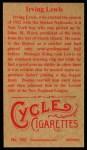 1912 T207 Reprints #102   Irving Lewis Back Thumbnail