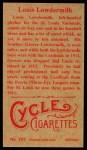1912 T207 Reprints #107   Louis Lowdermilk Back Thumbnail