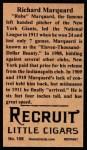 1912 T207 Reprints #108   Rube Marquard Back Thumbnail