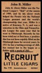 1912 T207 Reprints #119  Dots Miller  Back Thumbnail
