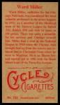 1912 T207 Reprints #122   Ward Miller Back Thumbnail
