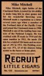 1912 T207 Reprints #123   Mike Mitchell Back Thumbnail