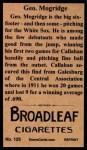 1912 T207 Reprints #125   George Mogridge Back Thumbnail