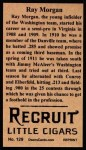 1912 T207 Reprints #129   Ray Morgan Back Thumbnail
