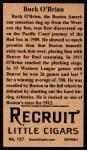 1912 T207 Reprints #137   Buck O'Brien Back Thumbnail