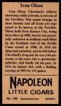 1912 T207 Reprints #139  Ivan Olson  Back Thumbnail