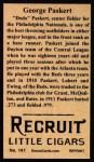 1912 T207 Reprints #141   George Paskert Back Thumbnail