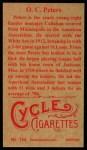 1912 T207 Reprints #144   O. C. Peters Back Thumbnail