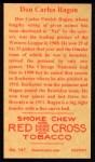 1912 T207 Reprints #147   Don Carlos Ragan Back Thumbnail