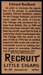 1912 T207 Reprints #150   Edward Reulbach Back Thumbnail