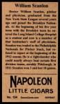 1912 T207 Reprints #154   William Scanlon Back Thumbnail