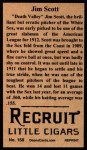 1912 T207 Reprints #158  Jim Scott  Back Thumbnail