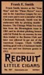 1912 T207 Reprints #161   Frank E. Smith Back Thumbnail