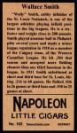 1912 T207 Reprints #162  Wallace Smith  Back Thumbnail