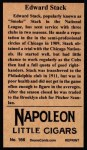 1912 T207 Reprints #166   Edward Stack Back Thumbnail