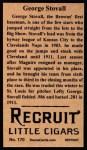 1912 T207 Reprints #170   George Stovall Back Thumbnail