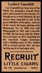 1912 T207 Reprints #175  Leeford Tannehill  Back Thumbnail