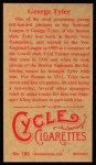 1912 T207 Reprints #180   George Tyler Back Thumbnail
