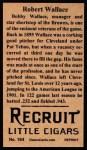 1912 T207 Reprints #184   Robert Wallace Back Thumbnail