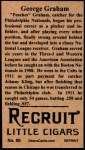 1912 T207 Reprints #66   Peaches Graham Back Thumbnail
