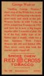 1912 T207 Reprints #186  George 'Buck' Weaver    Back Thumbnail