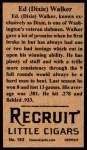 1912 T207 Reprints #183   Ed Walker Back Thumbnail