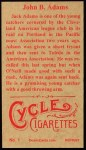 1912 T207 Reprints #1   John Adams Back Thumbnail