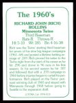 1978 TCMA The 60's #119   Rich Rollins Back Thumbnail