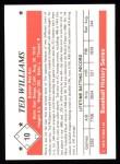 1979 TCMA The 50's #10   Ted Williams Back Thumbnail