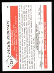 1979 TCMA The 50's #291  Jackie Robinson  Back Thumbnail