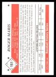 1979 TCMA The 50's #161   Roger Maris Back Thumbnail