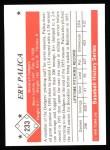 1979 TCMA The 50's #233  Erv Palica  Back Thumbnail